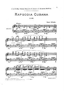 Rapsodia Cubana, Op.66: Para Piano by Isaac Albéniz