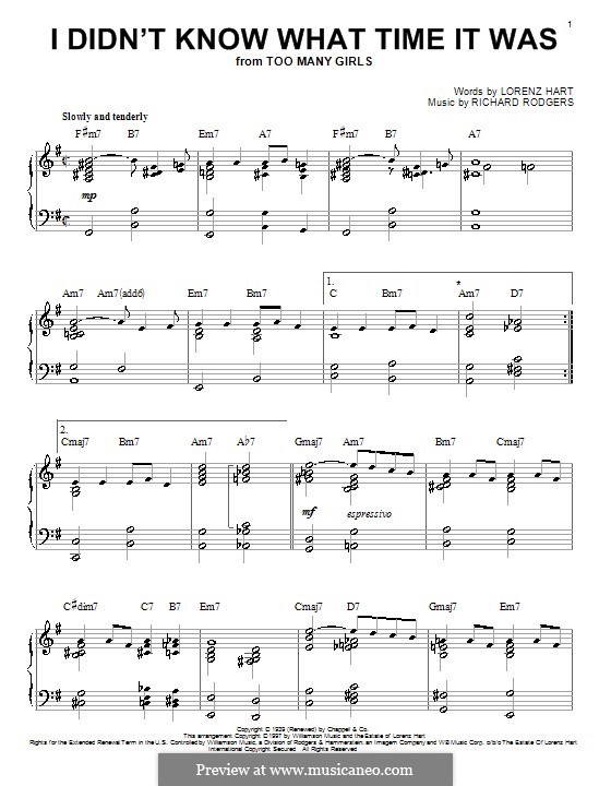 I didn't Know What Time it Was: Para Piano by Richard Rodgers