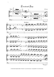 Toccata and Fugue in D Minor, BWV 565: para orgãos by Johann Sebastian Bach