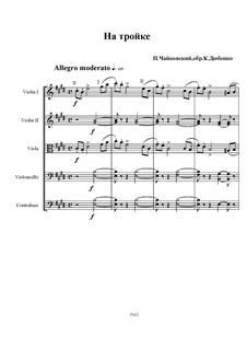 No.11 November (On the Troika): para orquetra de cordas by Pyotr Tchaikovsky