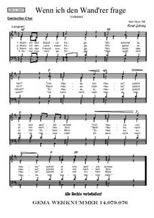 Wenn ich den Wand'rer frage: Für gemischten Chor, Op.394 by folklore