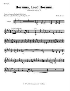 Hosanna, Loud Hosanna: parte instrumentos by Unknown (works before 1850)