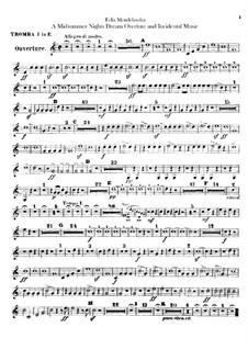 Incidental Music to Shakespeare's Play: parte trompetas by Felix Mendelssohn-Bartholdy
