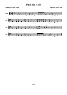 Deck the Hall: para viola by folklore