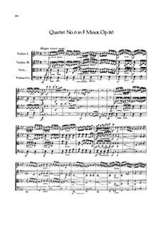 String Quartet No.6 in F Minor, Op.80: Partitura completa by Felix Mendelssohn-Bartholdy