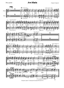 Salve Regina - Ave Verum - Ave Maria - Salve Regina (2 var.): Ave Maria – vocal score by Grigory Grigoryev