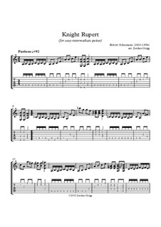 No.12 Knecht Ruprech (Saint Nicholas): For easy-intermediate guitar by Robert Schumann