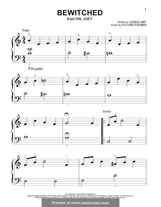 Bewitched (The Betty Smith Group): Para Piano by Richard Rodgers