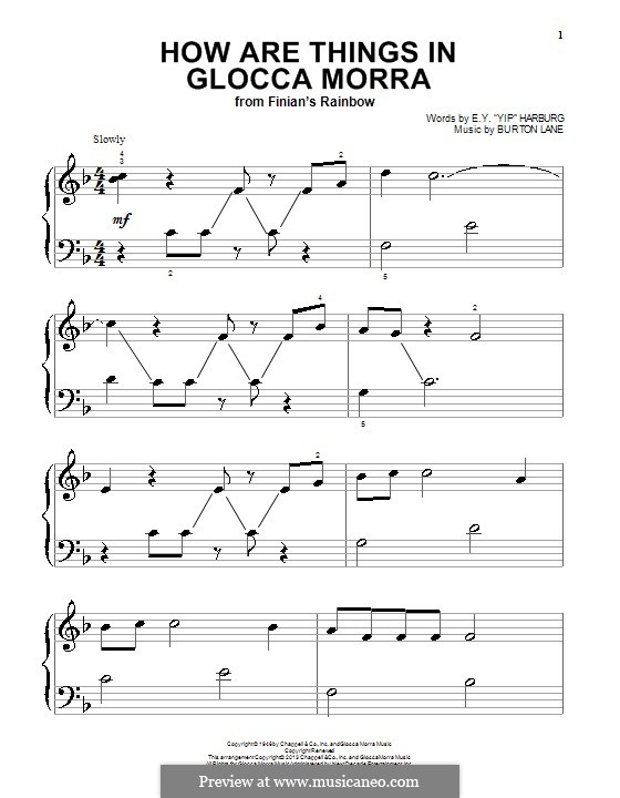 How are Things in Glocca Morra: Para Piano by Burton Lane