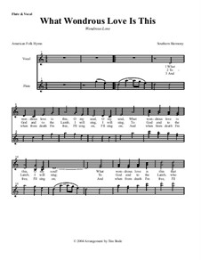 What Wondrous Love Is This: parte instrumentos by folklore