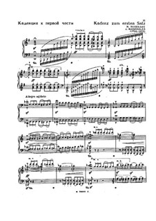 Cadenzas to Movements of Concerto No.3 for Piano by Beethoven: To movements I, III by Ignaz Moscheles