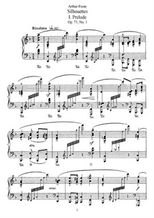 Five Silhouettes, Op.73: Para Piano by Arthur Foote