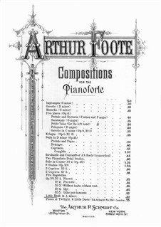 Little Etude in A Minor: Little Etude in A Minor by Arthur Foote