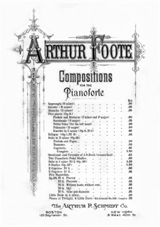 Two Pianoforte Pedal Studies: Two Pianoforte Pedal Studies by Arthur Foote