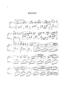 Six Pieces for Piano, Op.15: No.5 Waltz by Moritz Moszkowski