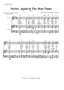 Savior, Again to Thy Dear Name: Partitura Piano-vocal by Edward J. Hopkins