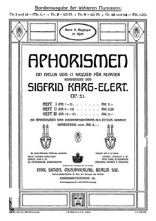 Aphorismen, Op.51: No.9 Commodo by Sigfrid Karg-Elert