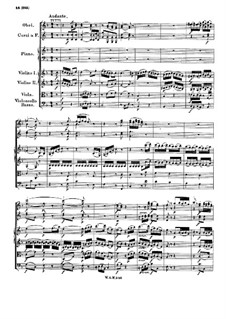 Concerto for Piano and Orchestra No.8 in C Major 'Lützow-Concert', K.246: Movimentos II-III by Wolfgang Amadeus Mozart
