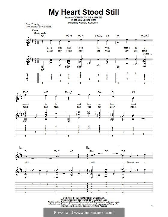 My Heart Stood Still: For voice and guitar (with tablature) by Richard Rodgers