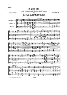 March for Wind Sextet in E Flat Major, WoO 29: Partitura completa by Ludwig van Beethoven