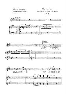 Was Liebe sei, S.288: Version III by Franz Liszt