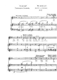 Wo weilt er, S.295: Klavierauszug mit Singstimmen by Franz Liszt