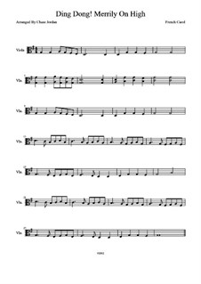 Ding Dong! Merrily on High: para viola by folklore