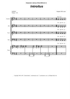Requiem Mass: Partitura Piano-vocal by Stephen DeCesare