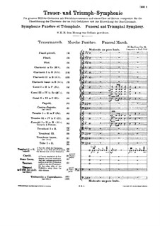 Grand Funeral and Triumphal Symphony, H.80 Op.15: Partitura completa by Hector Berlioz