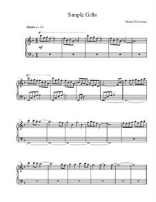 Simple Gifts: Para Piano by Joseph Brackett
