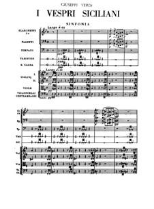 The Sicilian Vespers: Orchestral score by Giuseppe Verdi
