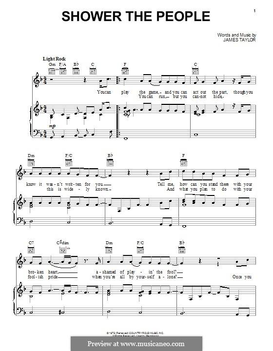 Shower the People: Para vocais e piano (ou Guitarra) by James Taylor