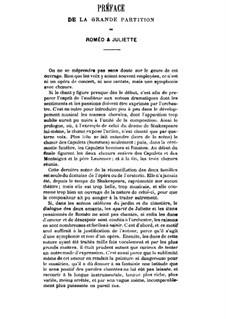Roméo et Juliette (Romeo and Juliet), H.79 Op.17: Partitura piano-vocal by Hector Berlioz