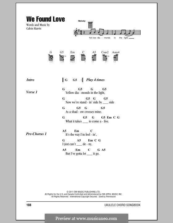 We Found Love: para ukulele by Calvin Harris