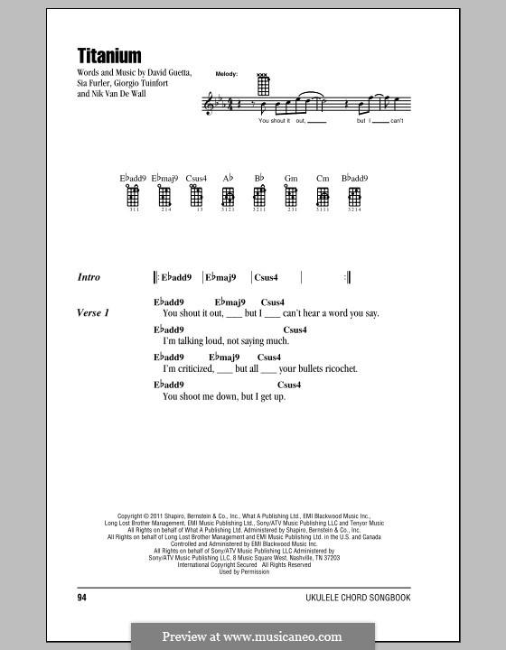 Titanium: para ukulele by David Guetta, Giorgio Tuinfort, Nick van de Wall, Sia Furler