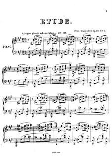 Two Etudes, Op.29: Etude No.2 in A Major by Felix Blumenfeld