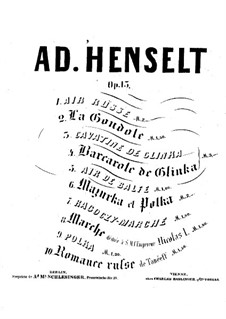 Ten Pieces for Piano, Op.13: set completo by Adolf von Henselt
