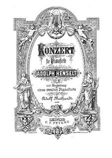 Piano Concerto in F Minor, Op.16: movimento I, para dois pianos para quatro mãos by Adolf von Henselt