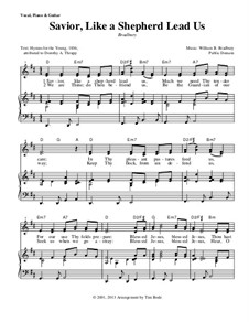 Savior, Like a Shepherd Lead Us: Para vocais e piano (ou Guitarra) by William Batchelder Bradbury