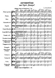 Zampa, ou La fiancée de marbre (Zampa, or the Marble Bride): abertura by Ferdinand Herold