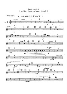 Lašské tance (Lachian Dances), JW 6/17: Dances No.1-2 – trumpets parts by Leoš Janáček