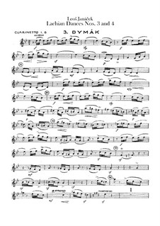 Lašské tance (Lachian Dances), JW 6/17: Dances No.3-4 – clarinets parts by Leoš Janáček