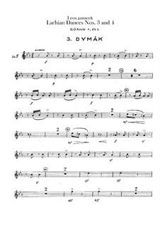 Lašské tance (Lachian Dances), JW 6/17: Dances No.3-4 – french horns parts by Leoš Janáček