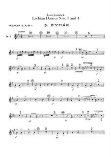 Lašské tance (Lachian Dances), JW 6/17: Dances No.3-4 – trumpets parts by Leoš Janáček