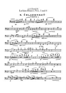 Lašské tance (Lachian Dances), JW 6/17: Dances No.5-6 – bassoons parts by Leoš Janáček