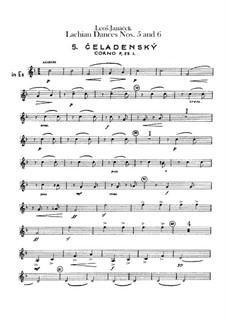 Lašské tance (Lachian Dances), JW 6/17: Dances No.5-6 – french horns parts by Leoš Janáček