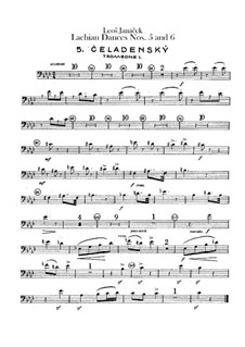 Lašské tance (Lachian Dances), JW 6/17: Dances No.5-6 – trombones parts by Leoš Janáček