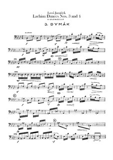 Lašské tance (Lachian Dances), JW 6/17: Dances No.3-4 – cello part by Leoš Janáček