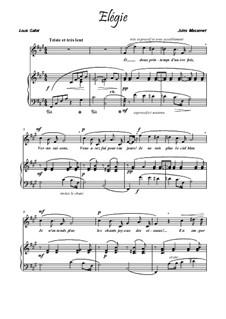 Dix pièces de genre, Op.10: No.5 Mélodie (Élégie), for voice and piano (F Sharp Minor) by Jules Massenet