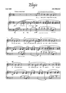 Dix pièces de genre, Op.10: No.5 Mélodie (Élégie), for voice and piano (F Minor) by Jules Massenet